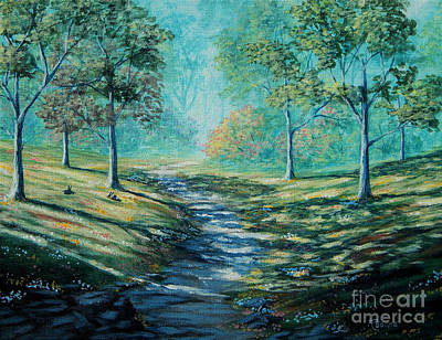 Painting - Misty Morning Path by Ruanna Sion Shadd a'Dann'l Yoder