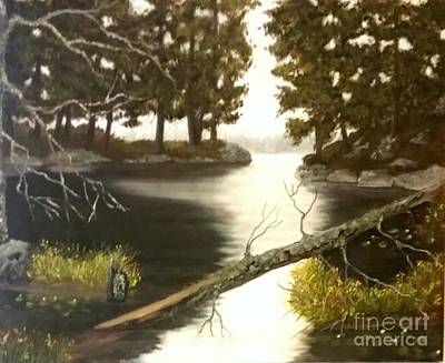Painting - Misty Morning by Peggy Miller