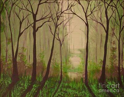 Painting - Misty Morning by Reed Novotny