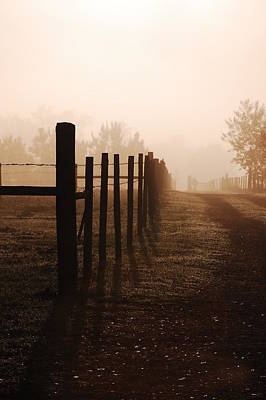 Foggy Road Photograph - Misty Morning by Robert Meanor