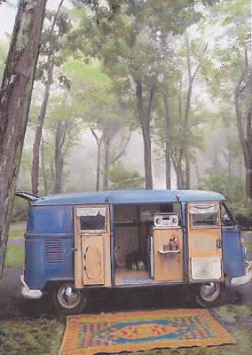 misty Morning Art Print by Sharon Poulton
