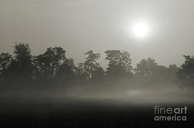 Photograph - Misty Morning Sunrise by Charles Owens