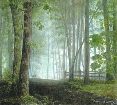 Painting - Misty Morning Visitor by Carla Kurt