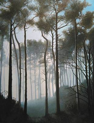 Painting - Misty Morning Walk by Caroline Philp