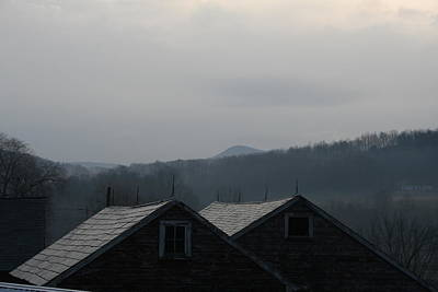 Photograph - Misty Mountain Barnscape by Aggy Duveen