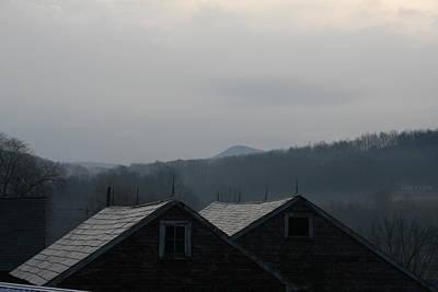 Photograph - Misty Mountain Barnscape by Aggy Duveen