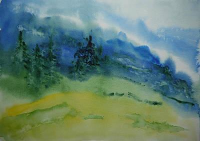Misty Mountain Art Print by Bitten Kari