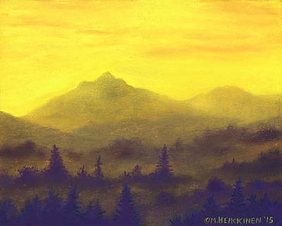 Pastel - Misty Mountain Gold 01 by Michael Heikkinen