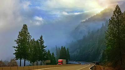 Photograph - Misty Mountain Highway by Keith Boone