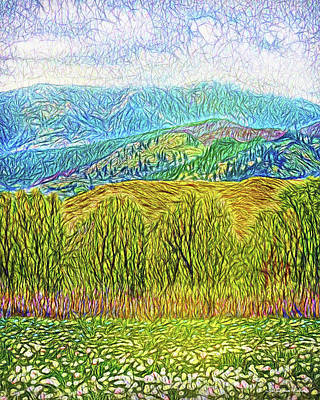 Digital Art - Misty Mountain Meadow by Joel Bruce Wallach