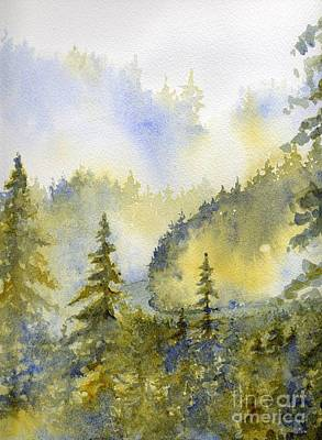 Smokey Mountains Painting - Misty Mountain Morning by Lisa Bell