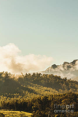 Fog Photograph - Misty Mountain Peaks by Jorgo Photography - Wall Art Gallery