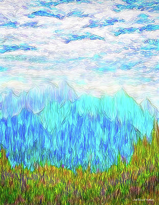 Digital Art - Misty Mountain Rhythms by Joel Bruce Wallach