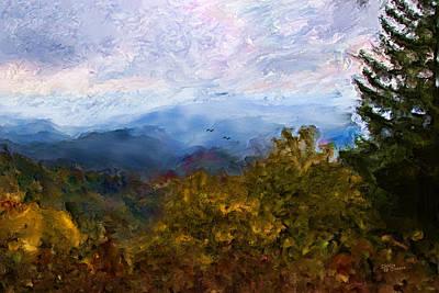 Misty Mountain Art Print by Shirley Dawson