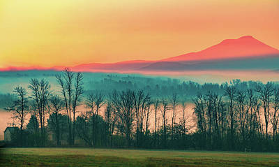 Sunrise Photograph - Misty Mountain Sunrise Part 2 by Alan Brown