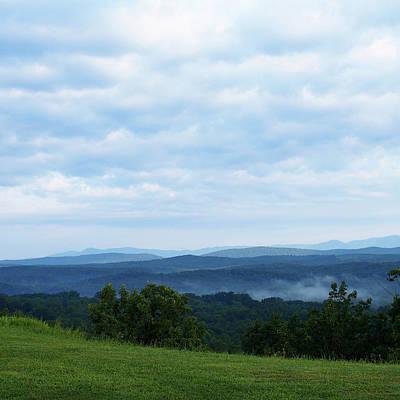 Photograph - Misty Mountain Vista by VB Medley
