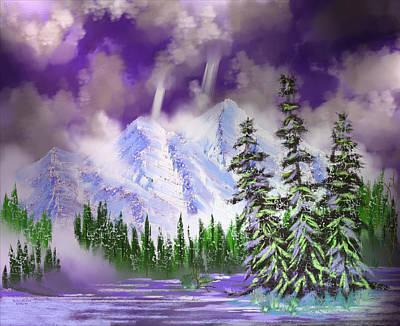 Digital Art - Misty Mountains by Artful Oasis