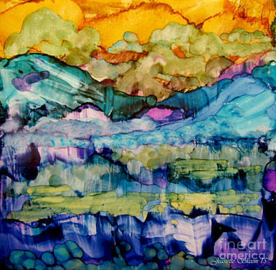 Painting - Misty Mountains by Jeanette Skeem