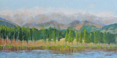 Painting - Misty Mountains by Margaret Bobb