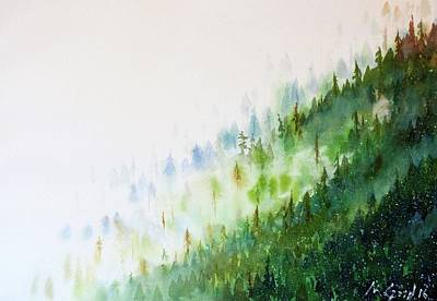 Mist Painting - Misty Mountains by Max Good