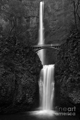 Photograph - Misty Multnomah Black And White by Adam Jewell