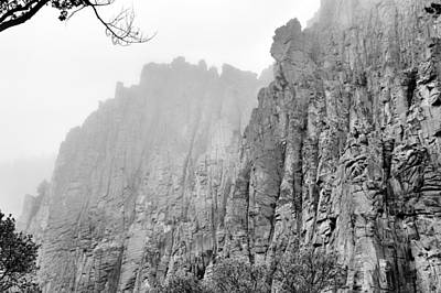 Photograph - Misty Palisades by Jacqui Binford-Bell