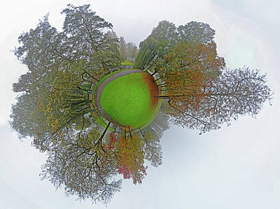 Photograph - Misty Park Panorama by Frans Blok