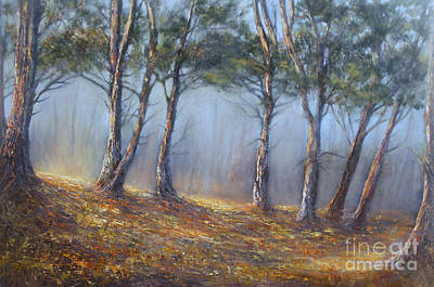 Painting - Misty Pines by Valerie Travers