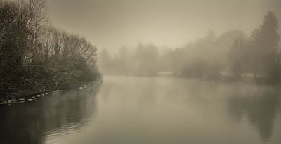 Photograph - Misty Pond by Don Schwartz