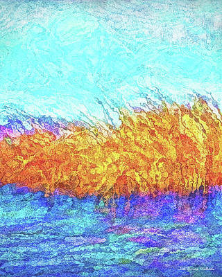 Digital Art - Misty Pond Reeds by Joel Bruce Wallach