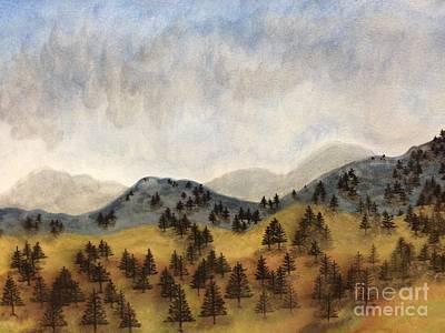 Misty Rain On The Mountain Art Print