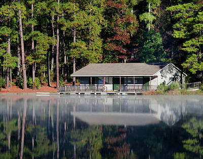 Photograph - Misty Reflection At Durant by George Randy Bass