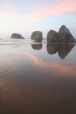 Misty Bandon Reflection Art Print