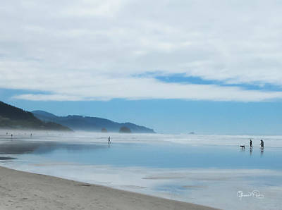 Photograph - Misty Reflections On Cannon Beach by Susan Molnar