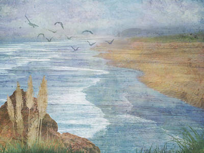 Art Print featuring the digital art Misty Retreat by Christina Lihani