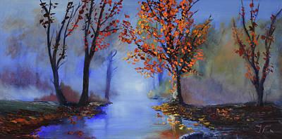 Misty River Morning Original