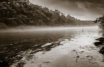 Photograph - Misty River by Robert McKay Jones