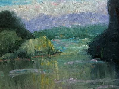 Painting - Misty River by Sharon Franke