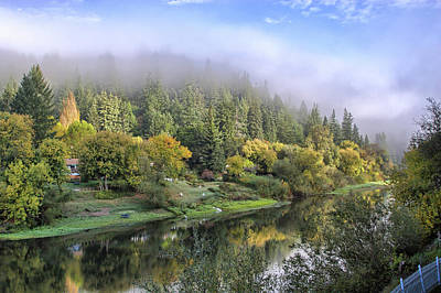 Misty Russian River Print by Peter Dyke