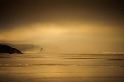 Photograph - Misty Sea Stacks by Don Schwartz