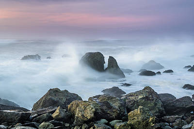 Photograph - Misty Seas At Dusk by Greg Nyquist