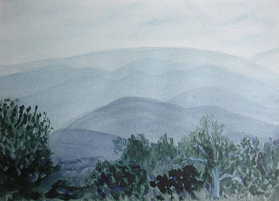 Misty Shenandoah Art Print by Donna Walsh