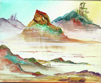 Painting - Misty  Shore by Sherry Shipley