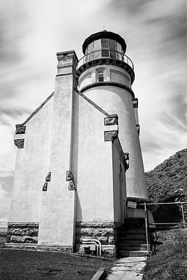 Photograph - Misty Sky At Heceta Head Lighthouse by HW Kateley