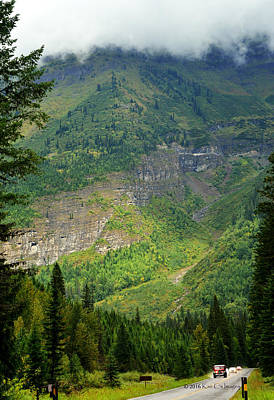 Misty Slopes In Glacier National Park Print by Kae Cheatham