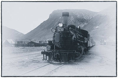 Photograph - Misty Steam Engine 476 Of Durango Silverton Railroad Colorado San Juan Mountains by John Brink