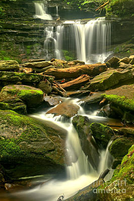 Photograph - Misty Streaming Falls by Adam Jewell