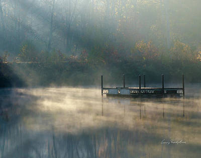 Misty Sunrise Art Print by George Randy Bass