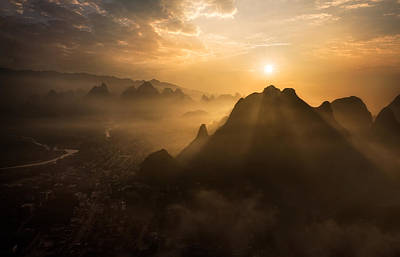 Sunrise Photograph - Misty Sunrise by Nadav Jonas