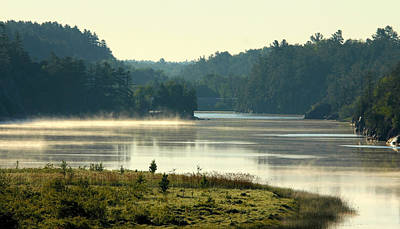 Photograph - Misty Sunrise On The River by Debbie Oppermann